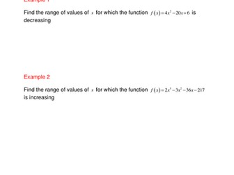A level Maths C1: worksheet Function turning point