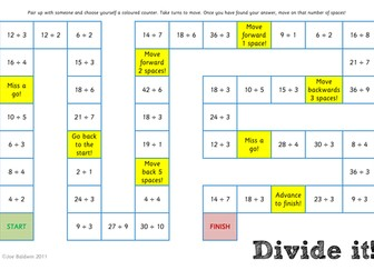 Maths: Division Board Game