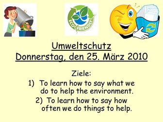 Protecting the environment - German - Echo 3 Green