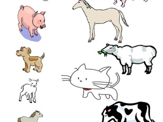 Match the mother animal to its babies worksheet