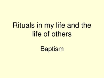 Baptism symbols and their meanings