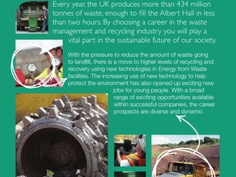 Waste management & recycling industry factsheet by EU_skills