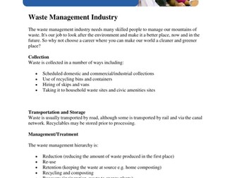 Case Study about the Waste Management by EU_skills