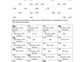 Maths: Reverse Percentage problems by Tristanjones - Teaching ...