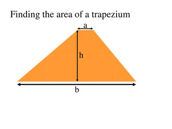 Visual proof of the area of a Trapezium
