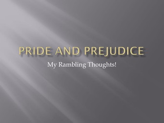 Narrative Voice in Pride and Prejudice