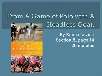 A Game of Polo with a Headless Goat PowerPoint