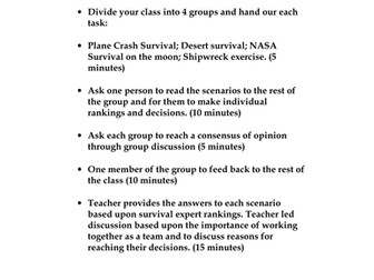 Survival Scenarios and Exercises
