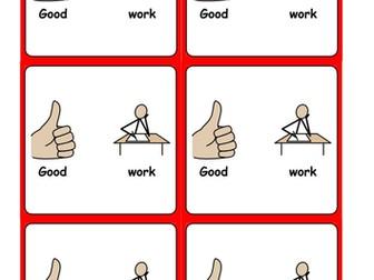 Good behaviour reward cards