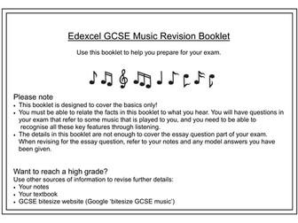 Edexcel GCSE Revision Booklet