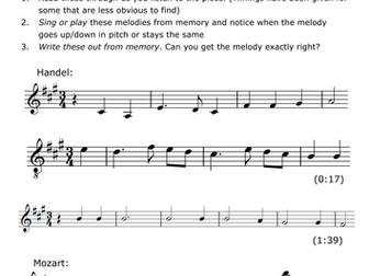 Dictation for Edexcel GCSE music