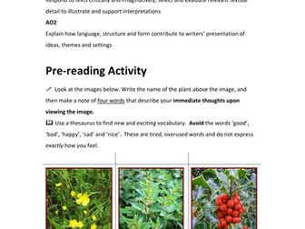 'Nettles' by Vernon Scannell - Teaching Resources
