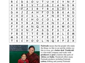 Traidcraft Schools: Mega Fairtrade Word Search