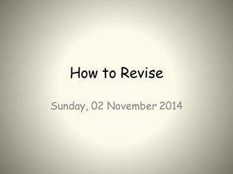 How to Revise - revision techniques
