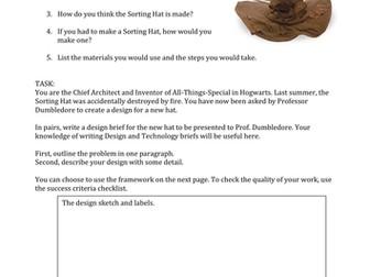 Design Brief for Harry Potter: Sorting Hat