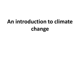 Climate Change power point