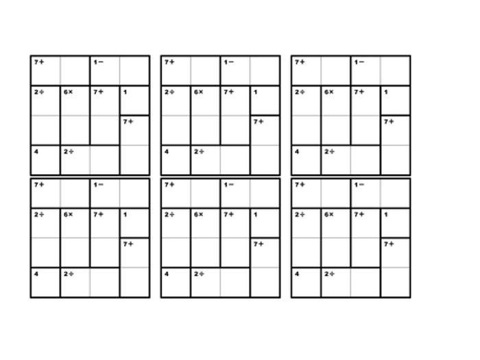 photo about Printable Kenken Puzzles named Ken Ken by way of paulm2704 Schooling Supplies