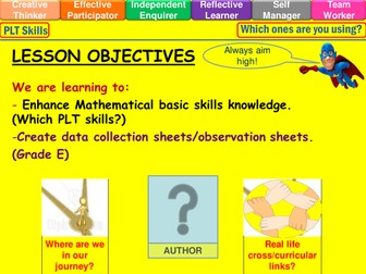 Data collection sheet lesson