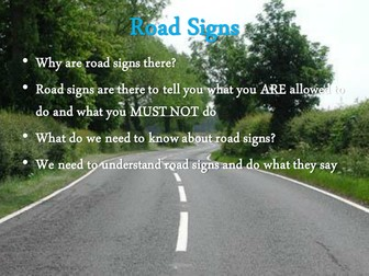 Interactive Road Signs Powerpoint