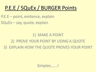 Developing P.E.E. Answers