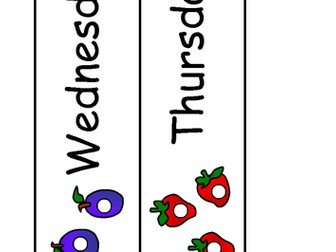 Hungry Caterpillar days of the week