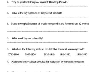 Chopin pub quiz