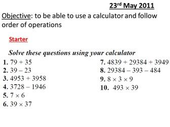 Introducing Calculators