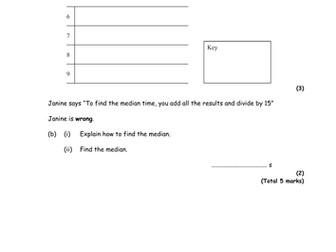 Stem and Leaf Diagrams Grade C Level 7