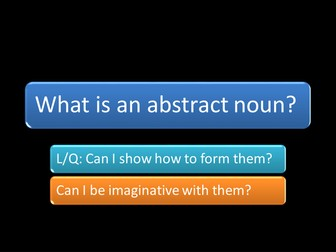 AWESOME ABSTRACT NOUNS ISLAND PART ONE