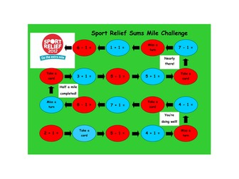 Sport Relief Sums Mile Challenge