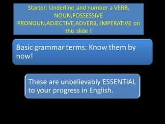 What's a NOUN VERB ADJECTIVE ADVERB Sir/Miss?