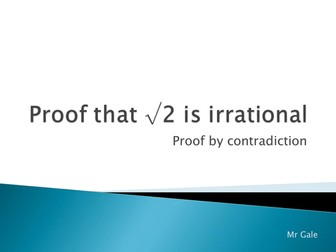 Proof that √2 is Irrational