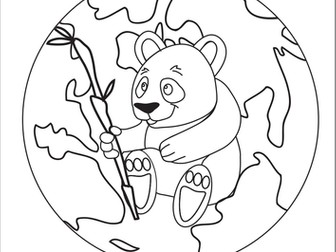 Earth Hour Colouring Poster