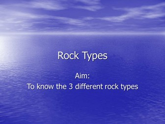 rock types and rock cycle