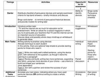 Persuasive writing revision lesson