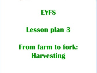 The Great Food Journey: EYFS Harvesting