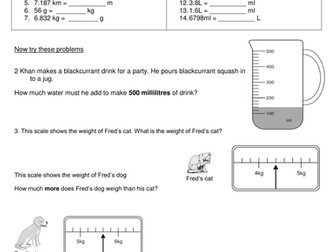 SATS based questions on measure