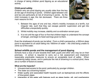 Water Survey: Safety Advice