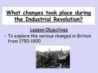 Industrial revolution changes