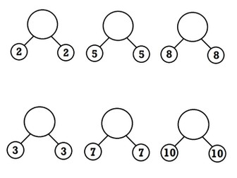 Doubling and halving -simple and clear worksheets
