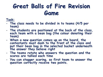 Revision game for GCSE PE