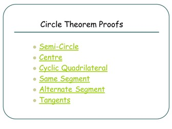 GCSE Circle Theorem Proofs (pupil friendly)