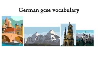 AQA GCSE German Vocabulary List