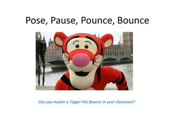 Pose Pause Pounce Bounce by @TeacherToolkit #PPPB