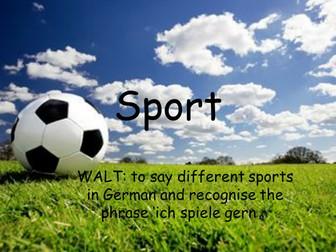 Sports in German