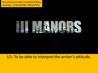 Plan B - Ill Manors (poetry)