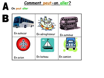 GCSE transport in French