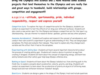 Science and the olympics