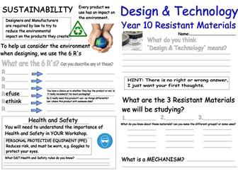 Resistant Materials Worksheet