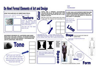 Formal Elements of Art and Design